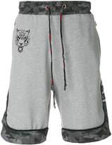 Plein Sport Black jogging shorts