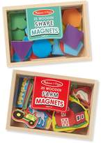 Melissa & Doug Shapes & Farm Wooden Magnets Set