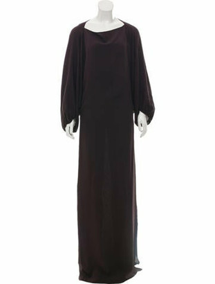 Lanvin Silk Maxi Dress Plum