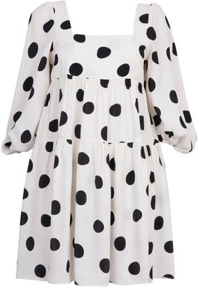 Paper London Martha Spot Smock Dress - White