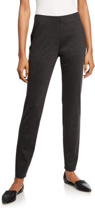 Eileen Fisher Petite Melange Ponte Slim Pants