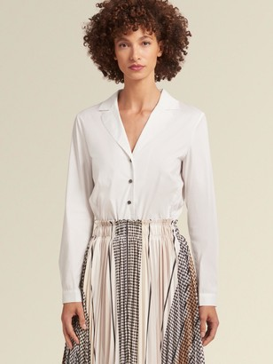 DKNY Shirtdress With Pleated Skirt