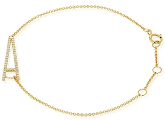 Ron Hami 14K Yellow Gold Diamond Initial Pendant Bracelet - 0.12-0.20 ctw