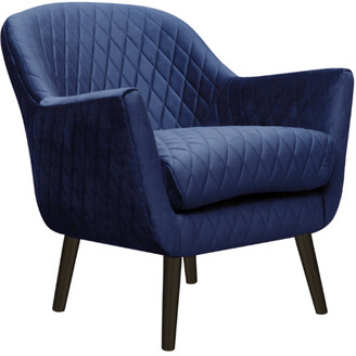 Darcy And Duke Club Chair French Navy With Black Legs