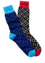 Jared Lang Geo Crew Sock - Pack of 2
