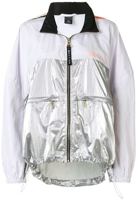 P.E Nation Side Runner two-tone hooded jacket