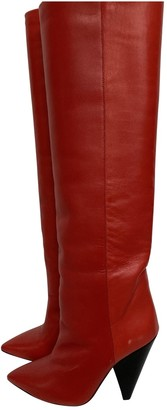 Isabel Marant Lokyo Red Leather Boots