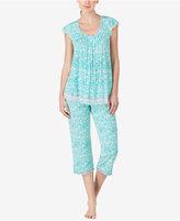 Ellen Tracy Printed Knit Pajama Top