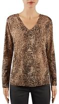 Gerard Darel Louanne Mixed Print Wool Sweater