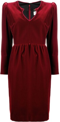 Saint Laurent Knee-Length Long-Sleeve Dress