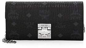 MCM Women's Large Patricia Visetos Leather Wallet-On-Chain
