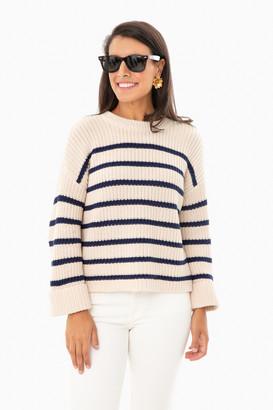 525 America Sage Stripe Channing Sweater