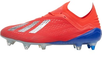 adidas Mens X 18.1 SG Soft Ground Football Boots Active Red/Silver Metallic/Bold Blue