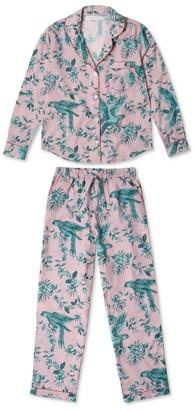 Desmond & Dempsey Bromley Parrot Long-Sleeved Pyjama Set