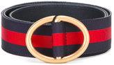 Gucci Web stripe belt - men - Cotton/Leather - 100
