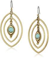 Lucky Brand Turquoise Double Oval Earrings