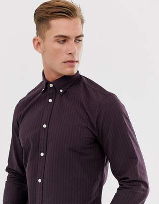 Selected gingham shirt in red