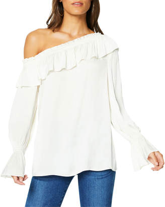 Ramy Brook Remy One-Shoulder Ruffle Blouse