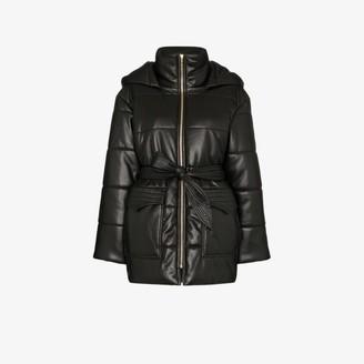 Nanushka lenox vegan leather puffer jacket