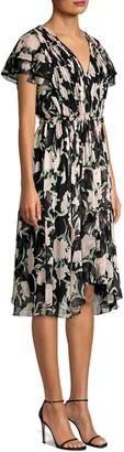 Jason Wu Collection Floral Chiffon Cascade Sleeve Dress
