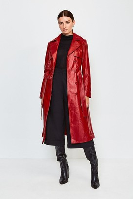 Karen Millen Leather Trench Coat