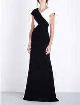 Roland Mouret Monochrome crepe gown