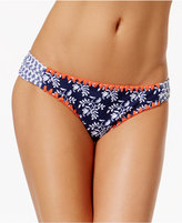 Jessica Simpson Vine About It Printed Side-Shirred Bikini Briefs