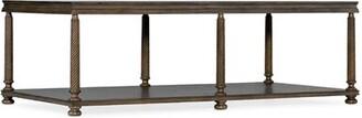 Hooker Furniture Vera Cruz Floor Shelf Coffee Table with Storage