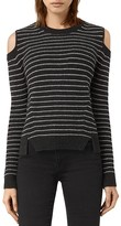 AllSaints Mull Cold Shoulder Stripe Sweater