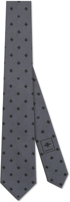 Gucci Silk tie with bees and stars