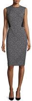 Lafayette 148 New York Marilyn Speckled Sleeveless Dress, Black/Multi