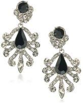 ABS by Allen Schwartz Set In Stone Crystal Chandelier Earrings