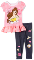 Children's Apparel Network Pink Disney Princess Belle Top & Pants