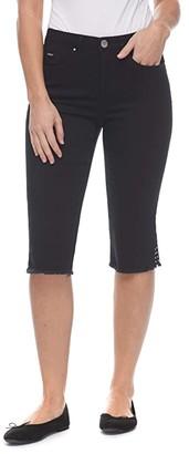 FDJ French Dressing Jeans Sunset Hues Denim Olivia Pedal Pusher in Black (Black) Women's Jeans