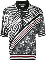 Dolce & Gabbana zebra stripe polo shirt - men - Silk - 46