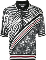 Dolce & Gabbana zebra stripe polo shirt - men - Silk - 52