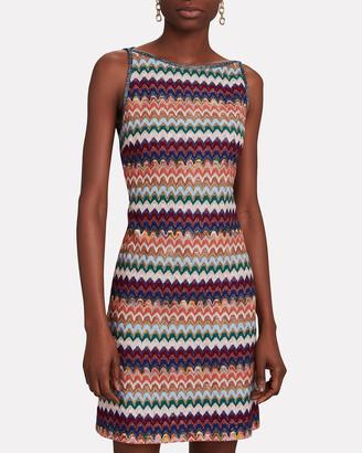 Missoni Sleeveless Knit Mini Shift Dress