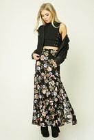 Forever 21 FOREVER 21+ Tiered Floral Print Maxi Skirt