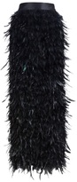 Fely Campo long feather skirt