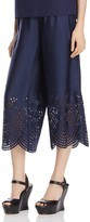 Alice + Olivia Eden Embroidered Silk Ankle Pants