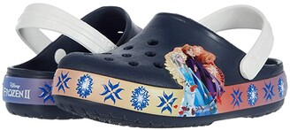 Crocs Fun Lab Lights Frozen 2 (Toddler/Little Kid) (Navy) Girl's Shoes