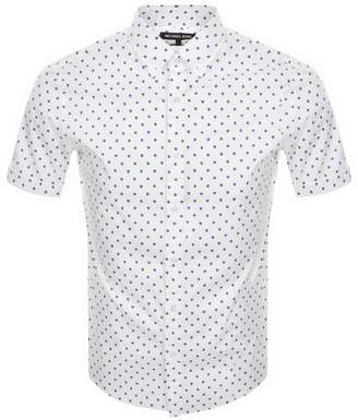 Michael Kors Short Sleeved Slim Fit Shirt White