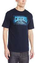 Crooks & Castles Men's Knit Crew T-Shirt - Tiger Speckle Logo