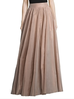 Jenny Packham Silk Gathered A Line Skirt
