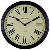 Roger Lascelles Outdoor Black Metal School Clock, Dia. 38.5cm
