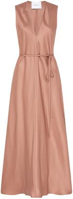 BONDI BORN Fluid Sateen Maxi Dress