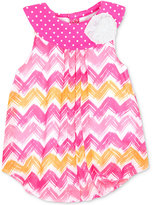 Baby Essentials Chevron-Print Bubble Romper, Baby Girls (0-24 months)