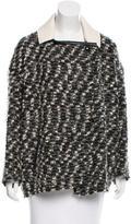Isabel Marant Leather-Trimmed Wool & Mohair-Blend Jacket