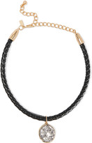 Kenneth Jay Lane Gold and silver-tone braided leather choker
