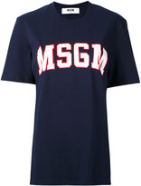 MSGM logo print T-shirt - women - Cotton - S
